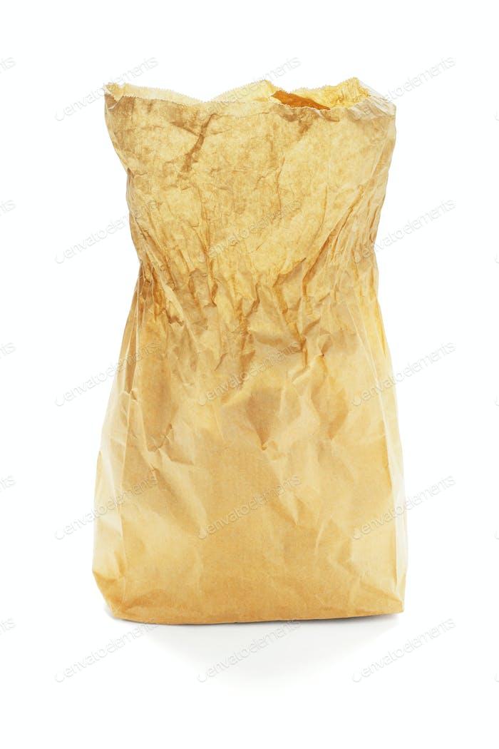 Open Brown Paper Bag