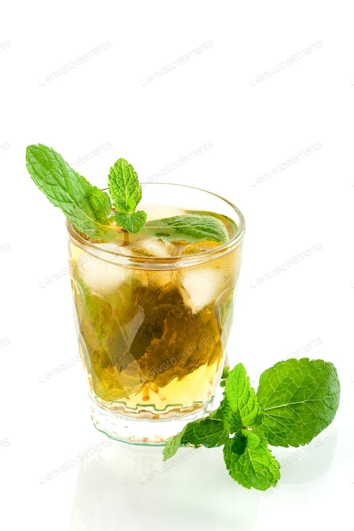 Alcohol cocktail with whiskey and mind