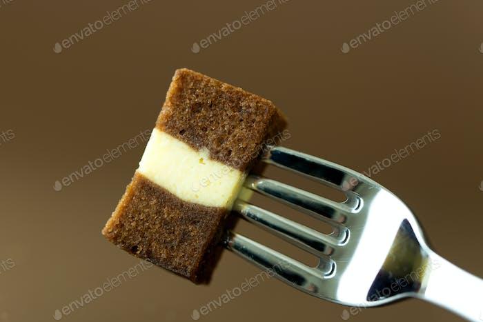 Chocolate cheese layer cake