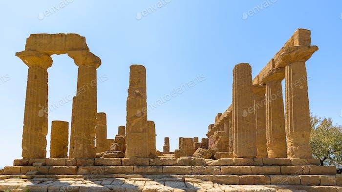 Tempel von Juno im Tal der Tempel in Agrigent