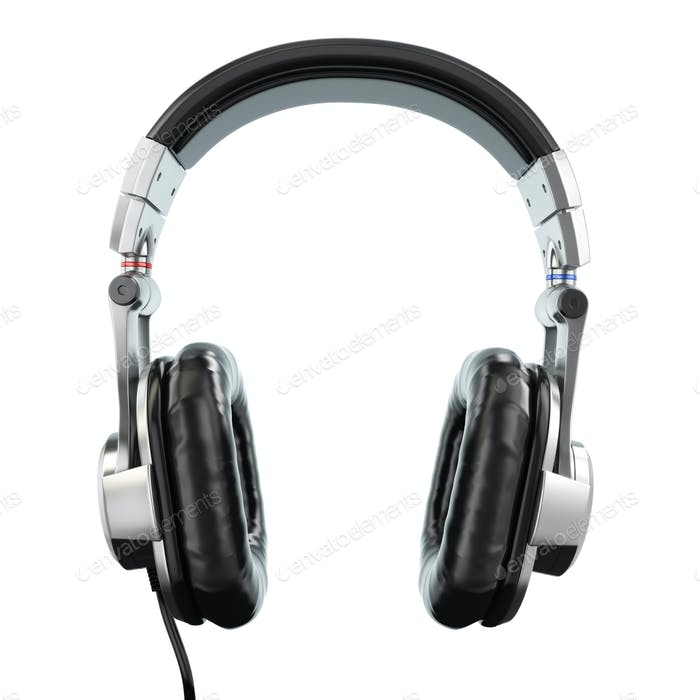 Headphones isolated on white background. Three-dimensional image. 3d