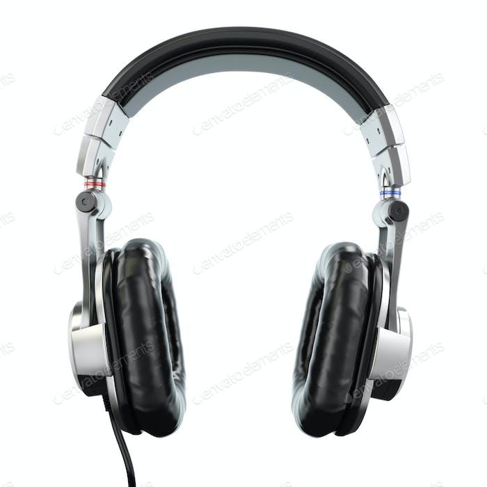 Kopfhörer isoliert auf weißem Hintergrund. Dreidimensionales Bild. 3D