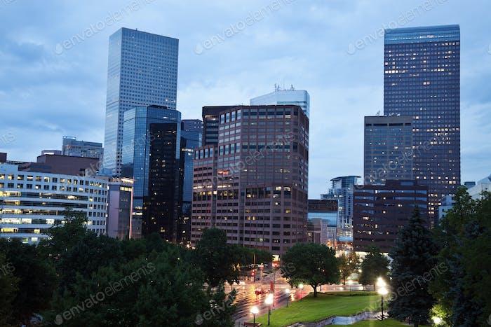 Rainy evening in Denver