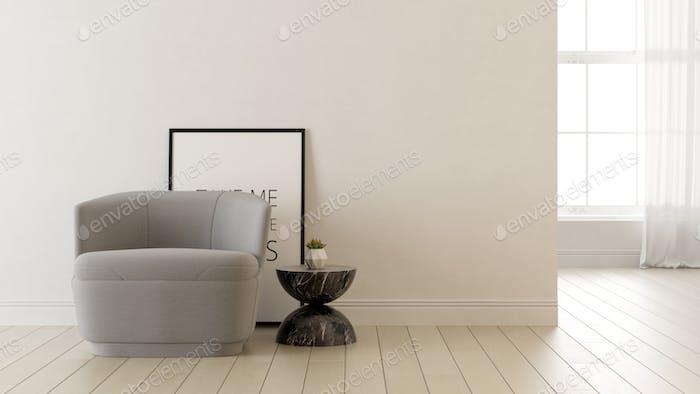 Interieur des modernen Wohnzimmers 3 D Rendering