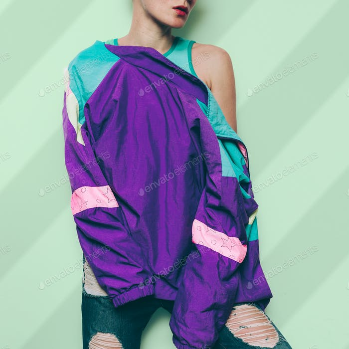 Vintage Windbreaker Retro Rave Clothing Style urban