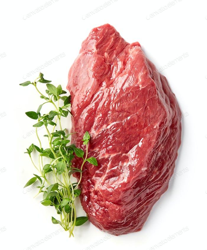 frisches rohes Rindfleisch Steak