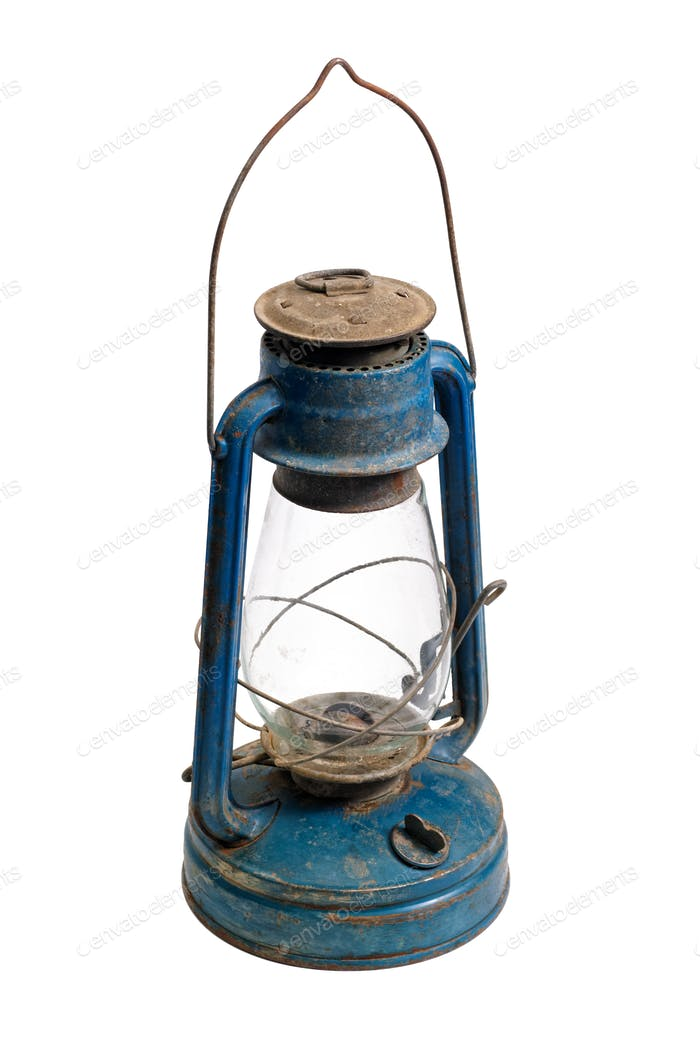 Very old kerosene lamp
