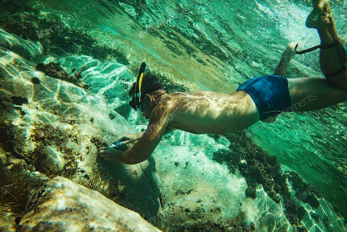 Exploring Under The Water