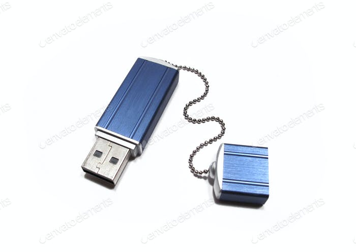 flash drive on white