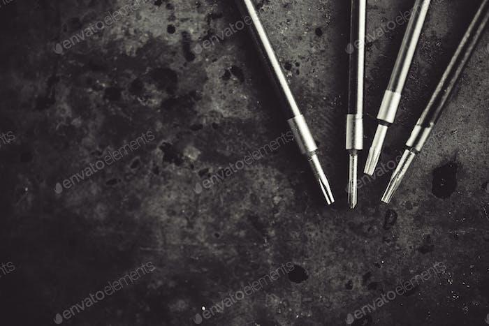Screwdriver repair tools.