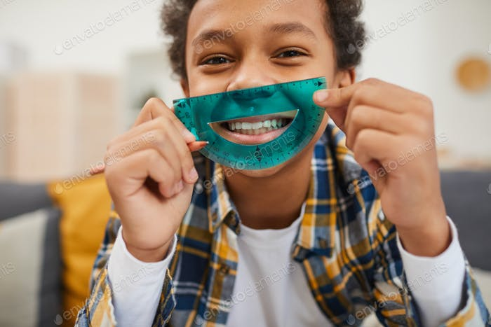 Cheerful African Schoolboy