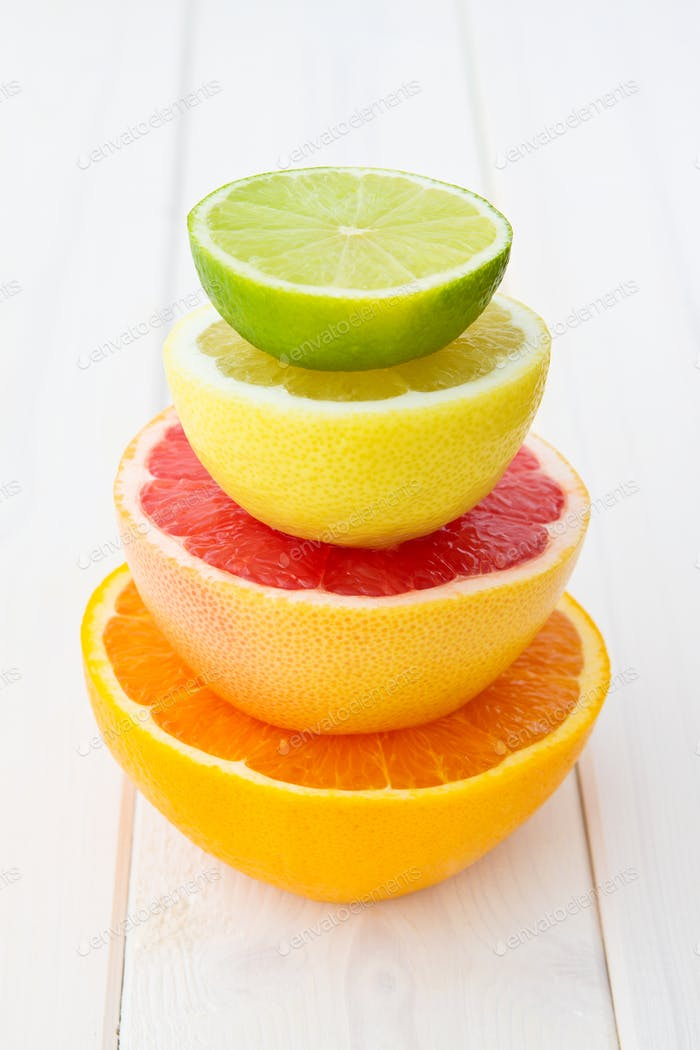 Tower Of Citrus Fruits