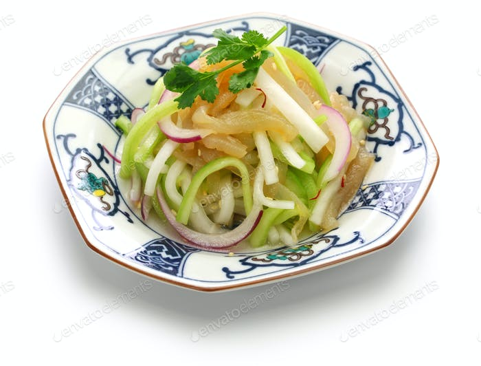 jellyfish salad, chinese cuisine, cold dish