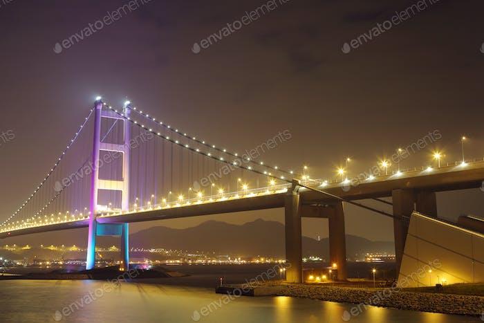 Hong Kong suspension bridge