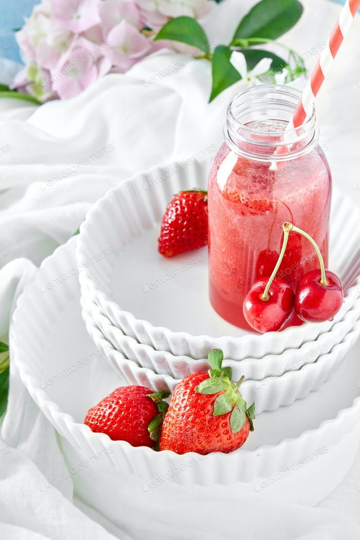 Cherries And Strawberries  Smoothie