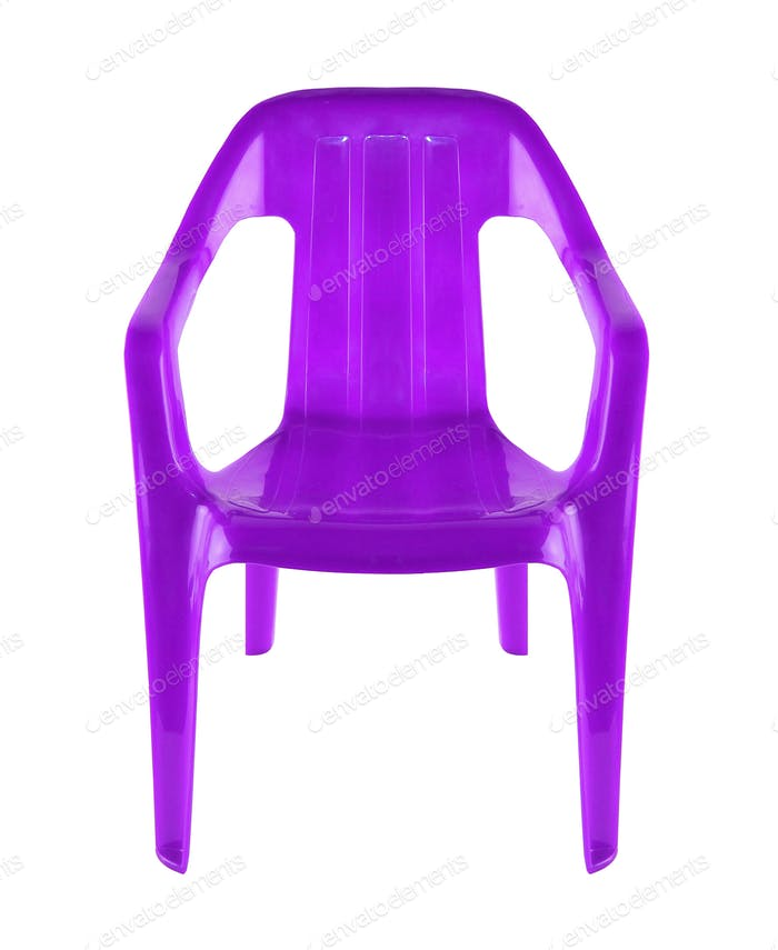 plastic chair isolated