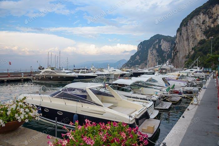 Yachts at Marina Grande on Capri Island