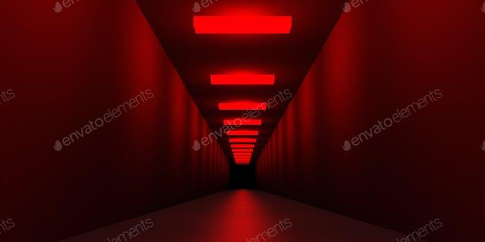 Fondo 3D futurista rojo
