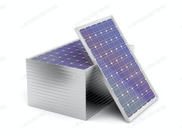 Stack mit Sonnenkollektoren