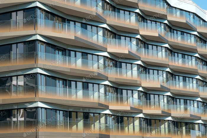 Detail of a modern apartment house in Berlin