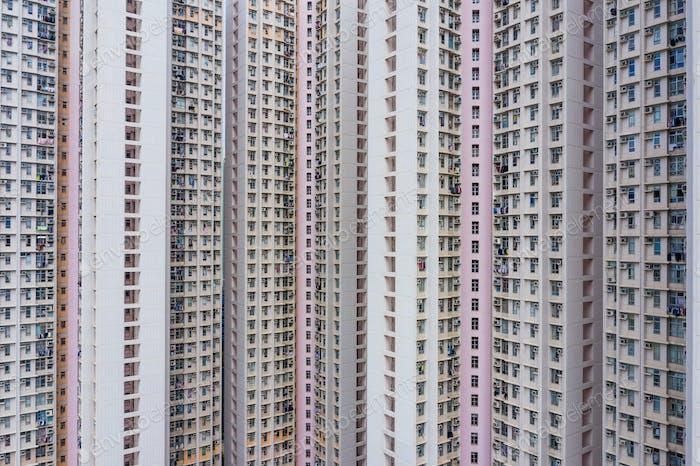 Skyscraper building facade
