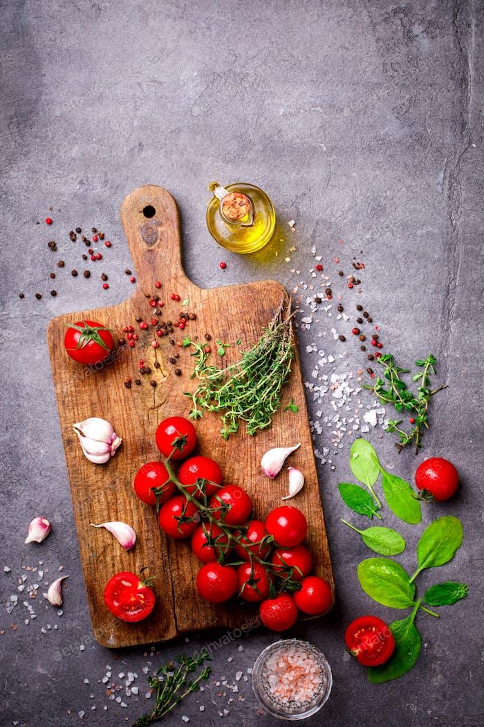 Organic vegetarian ingredients.Healthy food, or diet nutrition concept.
