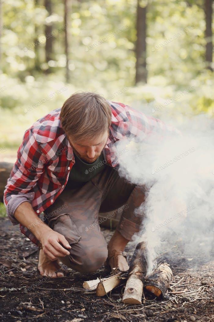 Viaje de camping