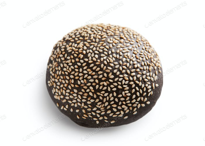 Black bread with isolated at white backgroung