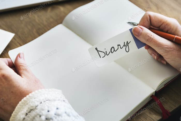 Diary Write Planner Agenda Concept