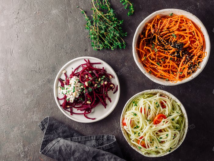 Vegetable noodles salads ideas recipe