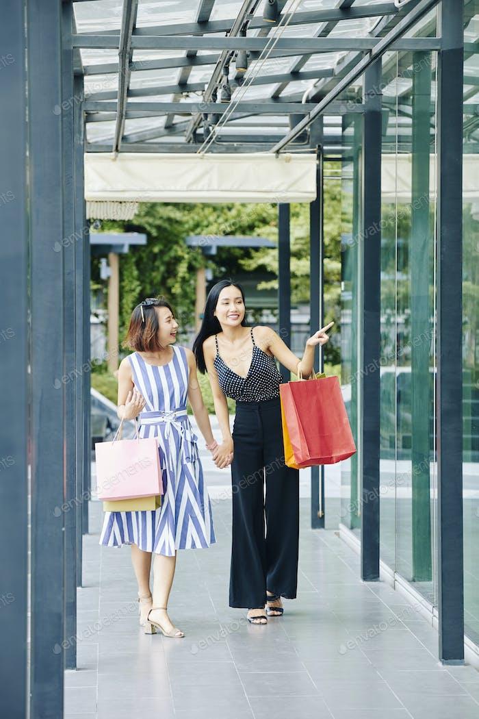 Asian women going for shopping