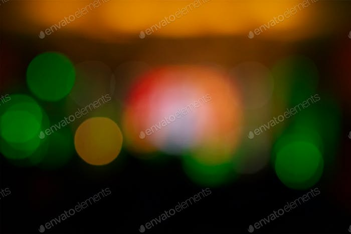 Colored bokeh abstract background