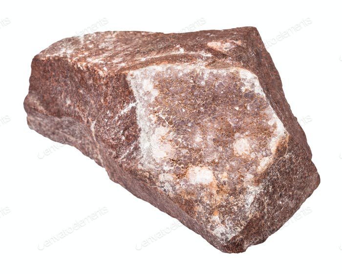 amethyst crystallization on rock isolated