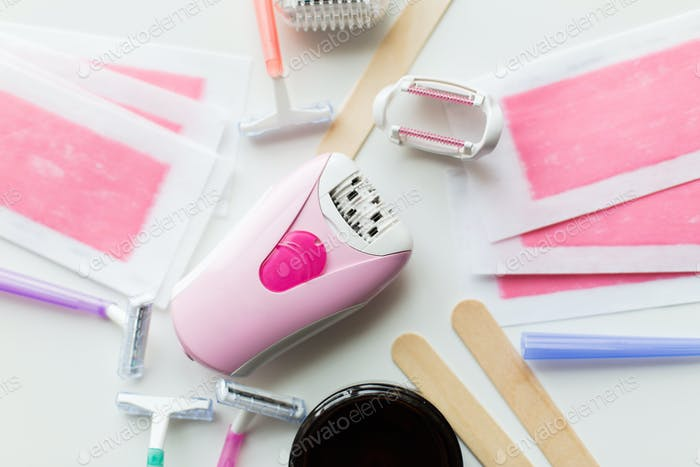 hair removal wax, epilator and safety razor