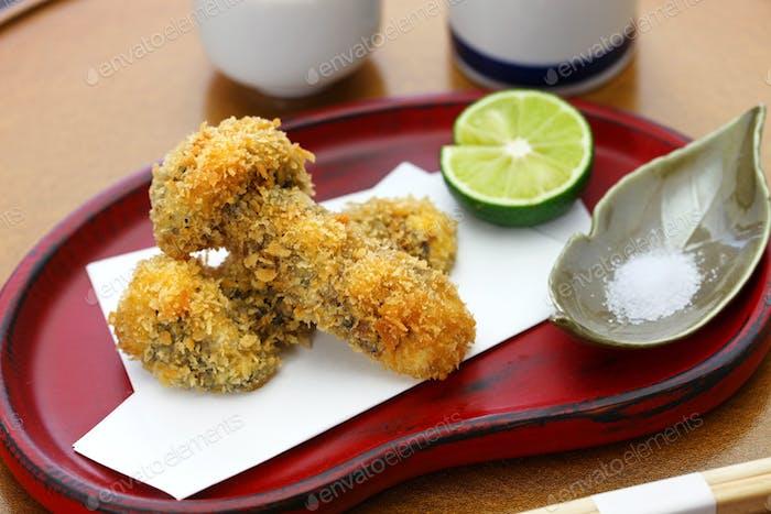 matsutake mushroom fry, japanese cuisine