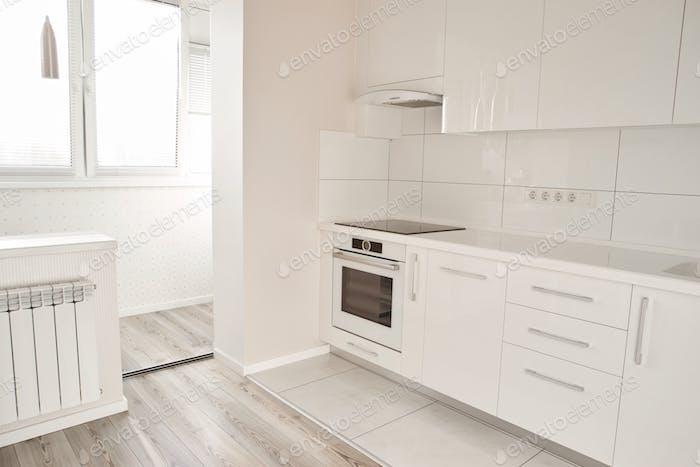 Luxury modern kitchen in new apartment.