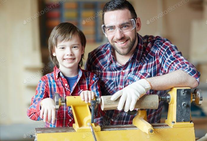 Carpintería con padre