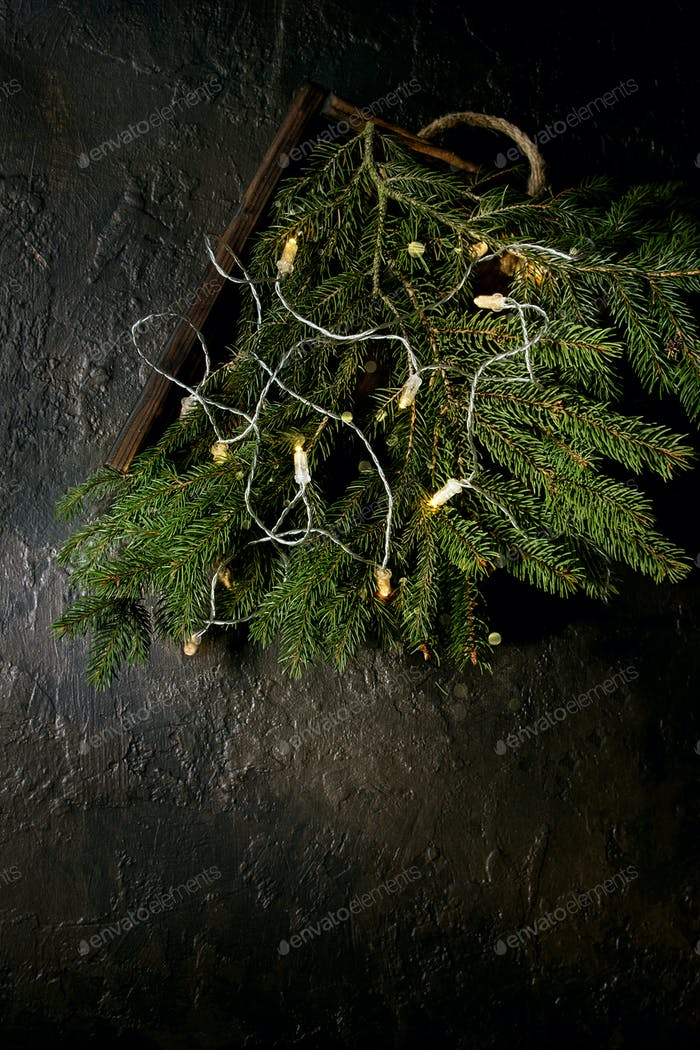 Christmas lights garland