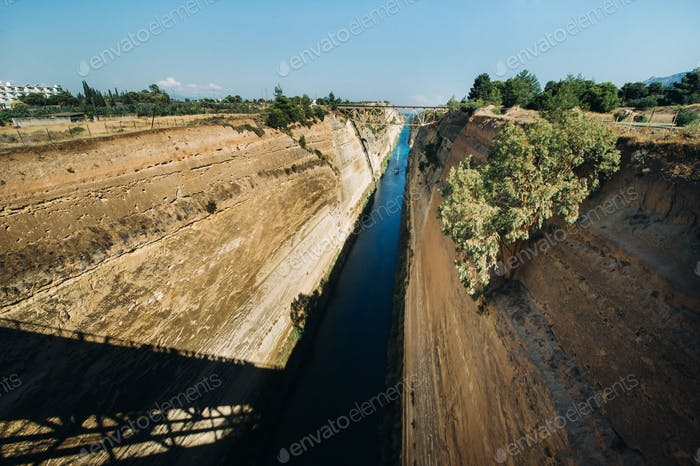 Shipping Freight through the Corinth Canal, Greece