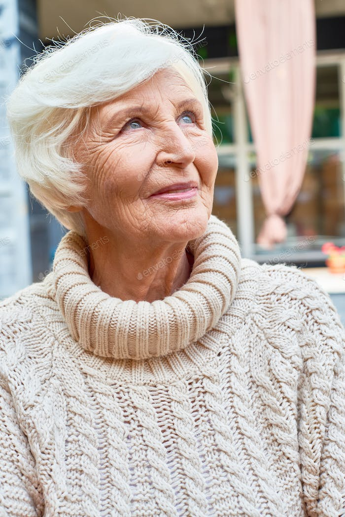 Elegant Old Woman in Retirement