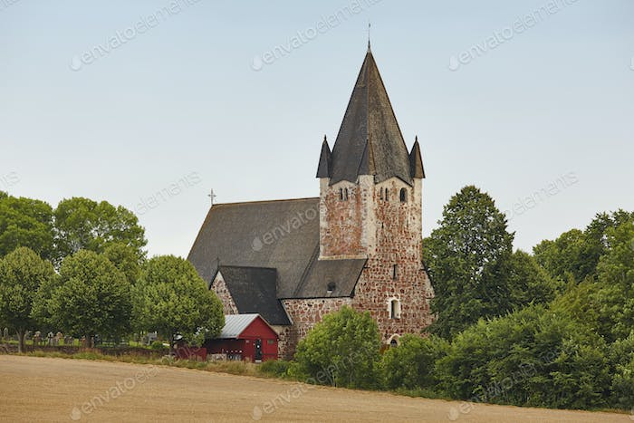 St. Mikacis church, Finstrom. Aland archipelago. Finland heritage. Horizontal