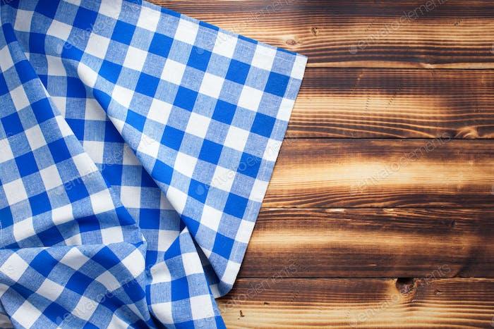 checked cloth napkin or tablecloth