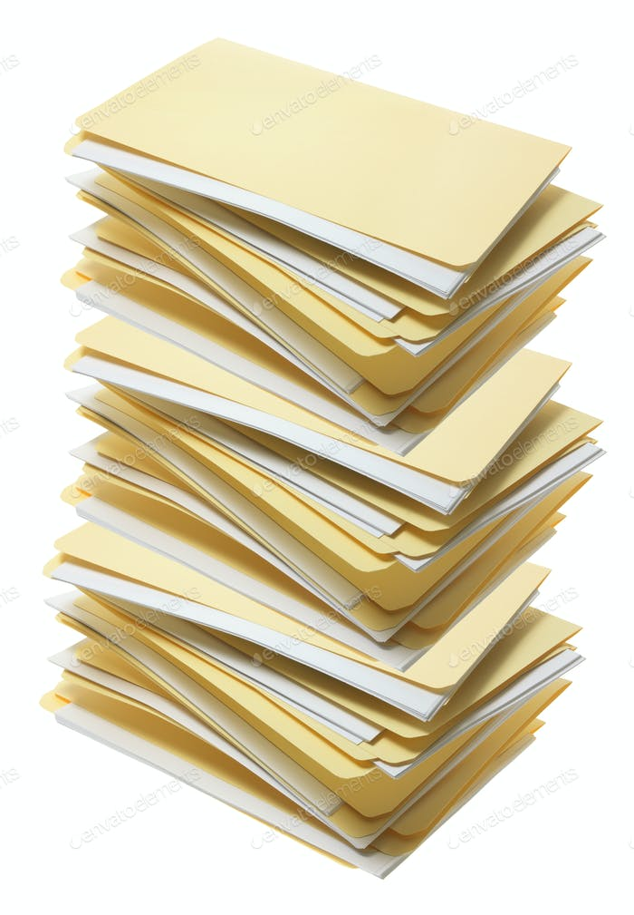 Stack of Manila File Folders
