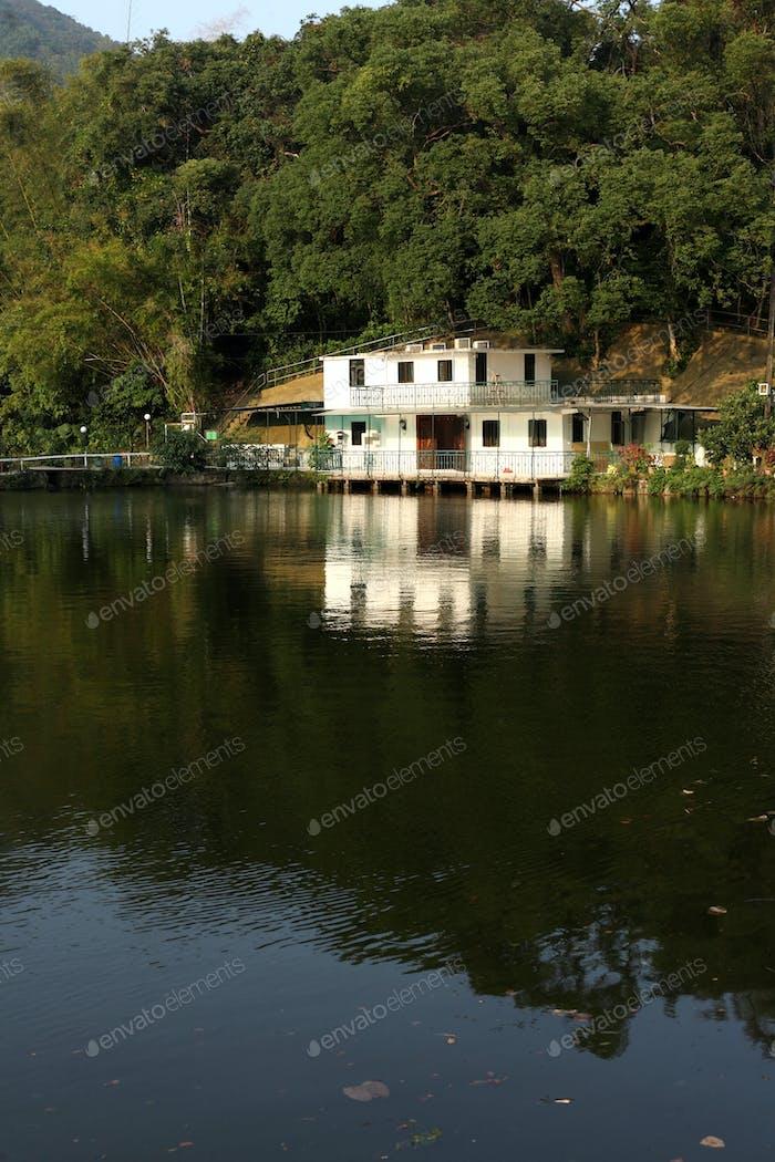 house beside a lake