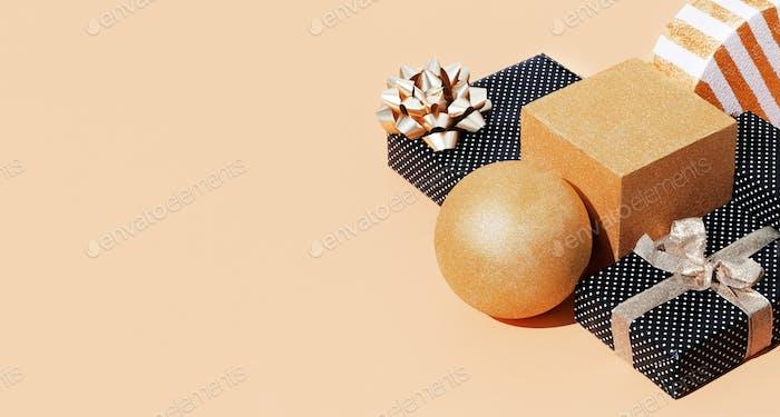 Gift box polka dot design