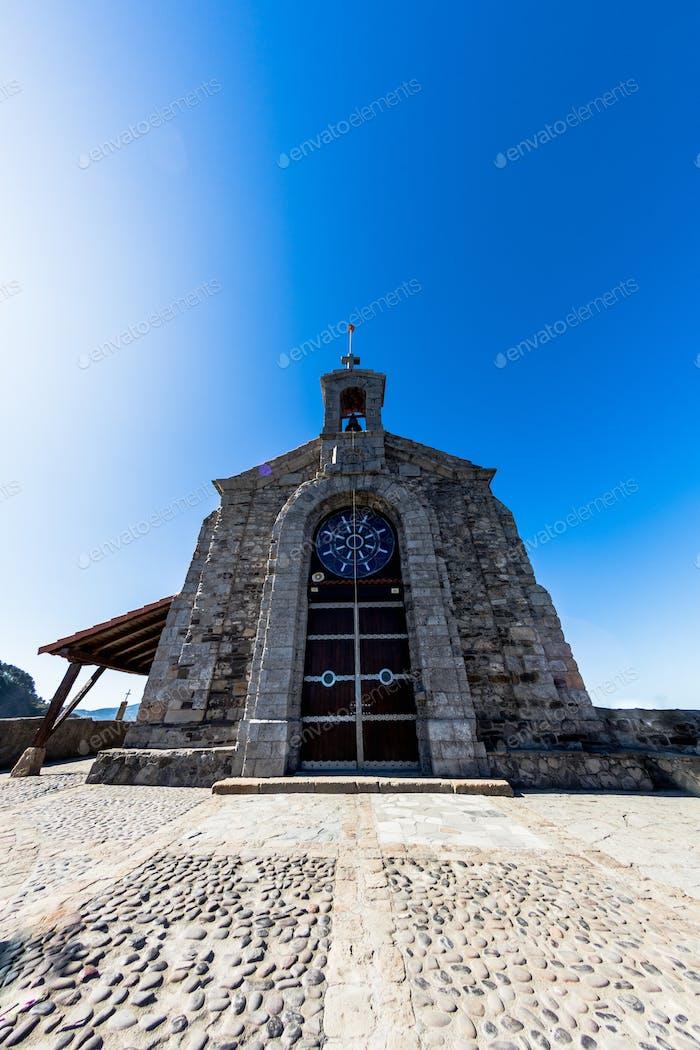 Church of San Juan de Gaztelugatxe on top of an island. To access the church of San Juan de