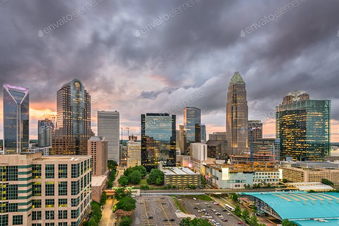 Charlotte, North Carolina Cityscape