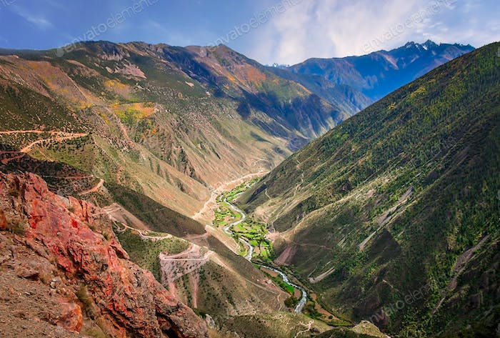 Mountain Valley in Yunnan