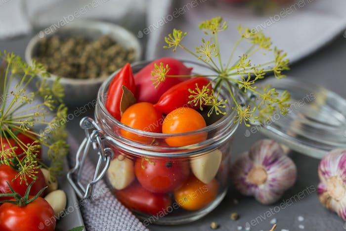 Ingredients for making healthy vegetarian food.