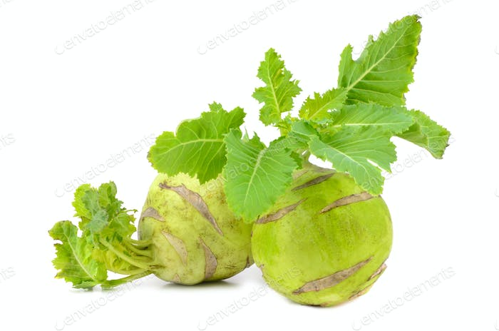 Green kohlrabi